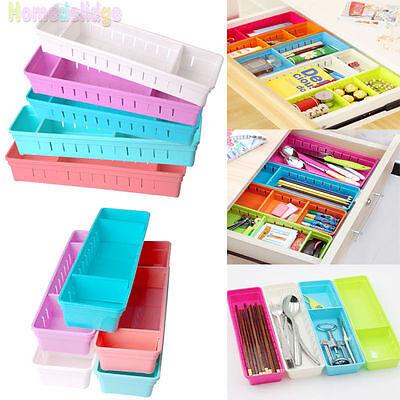 Adjustable Organizer Tie Bra Socks Drawer Cosmetic Divider Storage Box Container