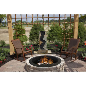 Pleasant Hearth Solid Steel Fire Ring