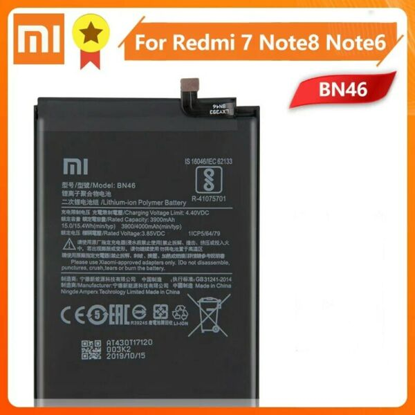 Xiaomi Redmi 7 Note 6 Note 8 Replacement Battery 4000mAh BN46