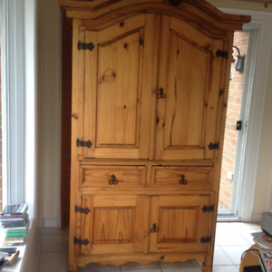 Solid Pine Armoire - Idomo
