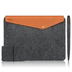 "MacBook Leather & Felt Case for 13.5"" for Notebook~Tablet  NEW"