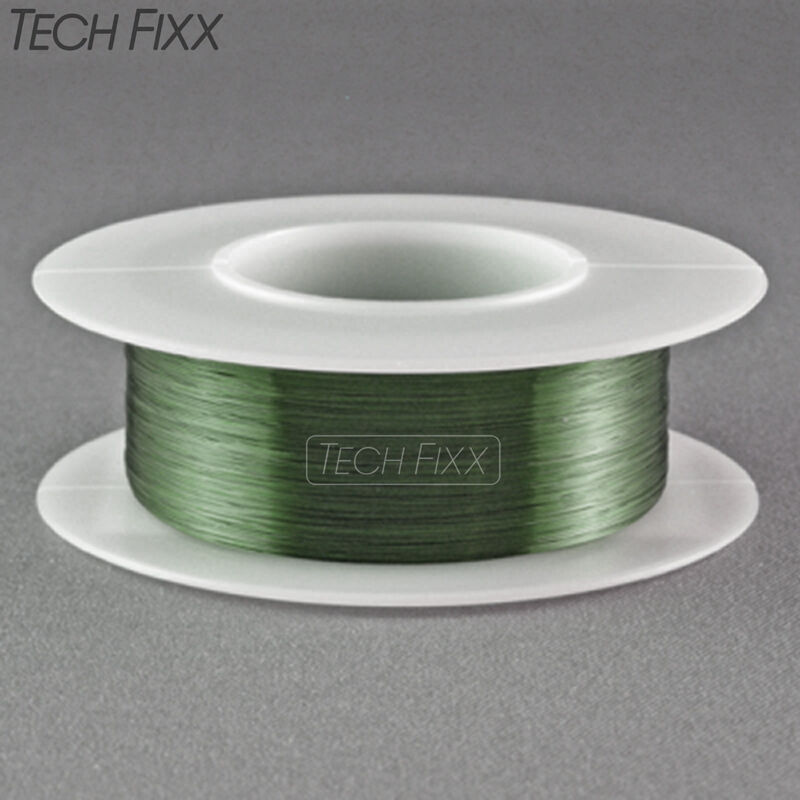 Magnet Wire 34 Gauge AWG Enameled Copper 990 Feet Coil Winding 155°C Green