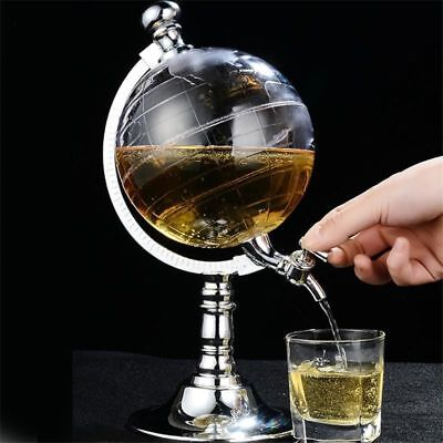 Whiskey Decanter Globe World Decanters Liquor Scotch Wine Spirits Rum Glasses Scotch Dekanter