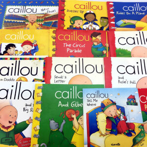 13 Caillou Books Picture Storybooks Toddlers Young Children Lot