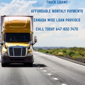 Truck Trailer and Heavy Equipment Loan Approved Niagra Falls