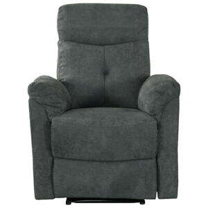 England Fabric Recliner Accent Chair - Grey