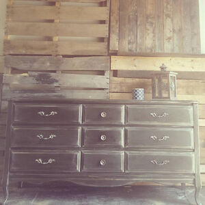 9 drawer French style solid dresser