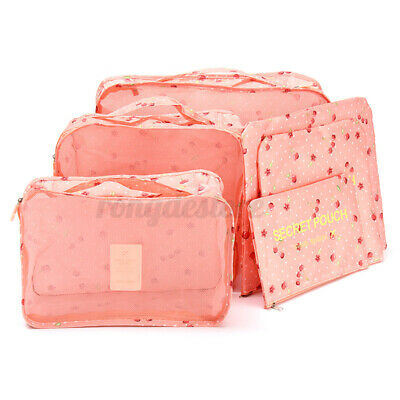 6PC//Set Travel Storage Bag Clothes Pouch Packing Cube Luggage Organizer  S N W