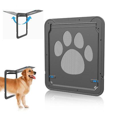 Dog Screen Door Pet Cat Automatic Magnetic Lockable Flap Net Gate Patio Window Automatic Patio Pet Door