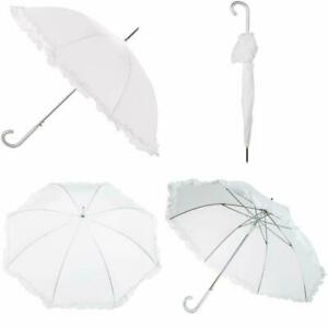 58c375b93020a 45 Inch Canopy Women Umbrella Auto Open Ruffle Stick Umbrella Rainy  Protector