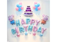 Peppa Pig Happy Birthday Foil Balloons Package Party Decoration