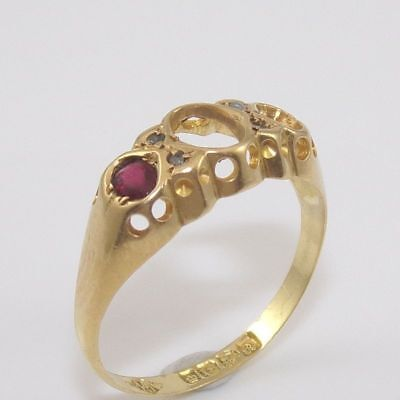 Antique 14K Yellow Gold Mine Cut Diamond Paste Stone Setting Mounting Ring GEI 14k Yellow Gold Ring Mounting