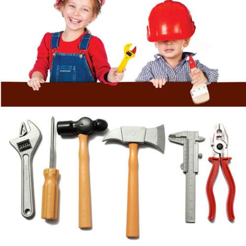 1 Set Boy Kids Toy Building Repair Tool Plastic Hammer Spanner Axe Plier Playing