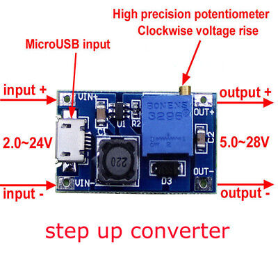 Dc-dc Usb 224v To 528v 2a Boost Step Up Adjustable Regulator Power Module