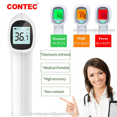Medical Non-contact Infrared Thermometer Gun Lcd Digital Forehead Fever Adult