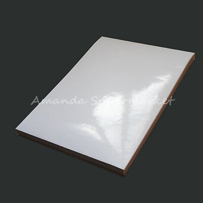 Printing Label A4 Sticker Blank Glossy Surface Fit For Laser Printer 50 Sheets