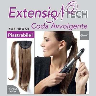 Capelli extension sintetici Coda Avvolgente Piastrabile facia capelli c molletta