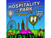 1 x ticket for Hospitality in the Park 24th September Finsbury Park