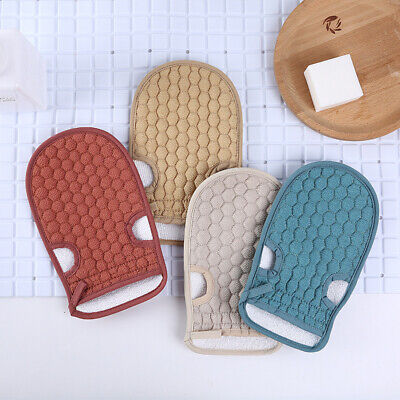 - 2PC Hot Korean Italy Exfoliating Body-Scrub Bath Glove Towel Massage Smooth Skin