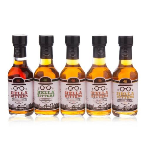 Hella Bitters - Cocktail 5 Pack - 1.7 oz - Aromatic Chili Ginger Orange & Citrus