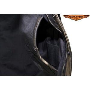 Men's Distressed Brown Leather Motorcycle Club Vest Edmonton Edmonton Area image 3
