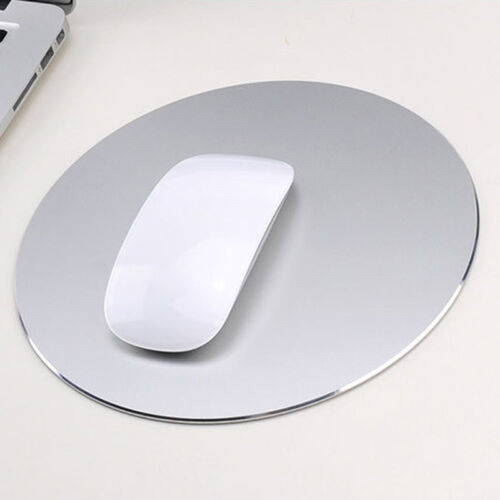 Round Aluminum Alloy Mouse Pad Gaming Mat Mousepad for Lapto