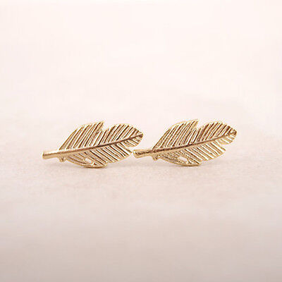 Fallen Leaves Stud Earrings for Women Girls Gifts Elegant Ear Studs