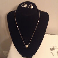 Lia Sophia timeless necklace and earrings