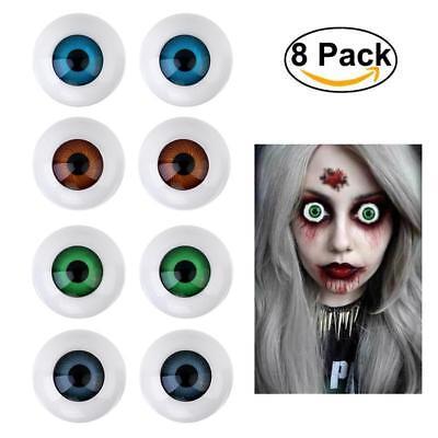 Hollow Eyeball Mask Plastic Half Round Horror Doll Props Halloween Party Costume