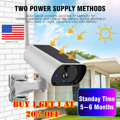 Solar Power IP Camera Wireless Wifi Surveillance Camera Night  Visions new