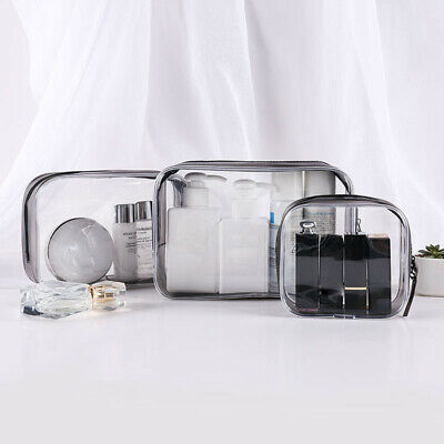 Set of 4PCS Cosmetic Makeup Toiletry Clear PVC Travel Wash Bag Holder Pouch (Clear Pouch)