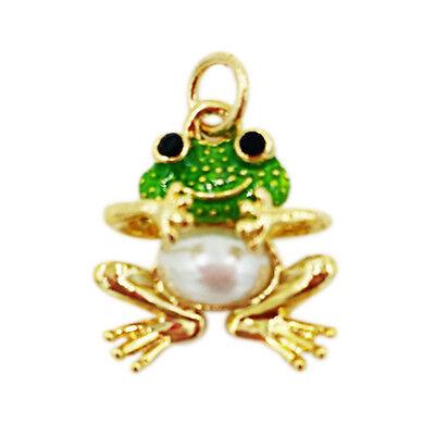- Enamel Small Frog Charm Gold