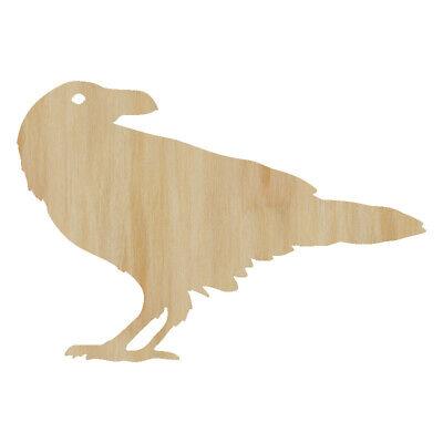 Halloween Cut Out Shapes (Crow Cut Out Wood Shape Craft Supply- Wood Craft Bird Cutout Halloween)