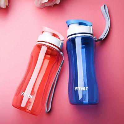 US Men Women Sports Water Bottle Fitness Hiking Running Travel LeakProof Bottle
