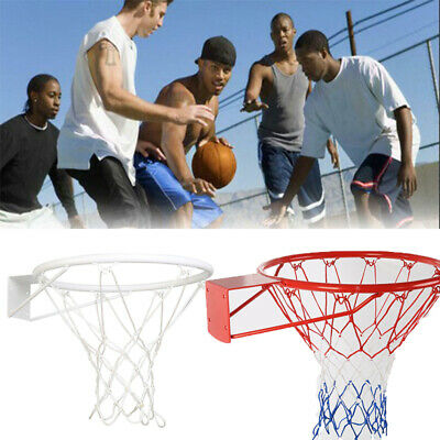 Wall Mounted Basketball Ring Rim Hoop Outdoor Indoor Hanging Basket US STOCKS
