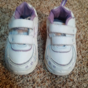 Purple & white running shoes-size 7