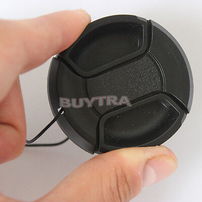 49mm Center Pinch Snap on Front Cap Cover For Sony Canon Nikon Lens Filter vn