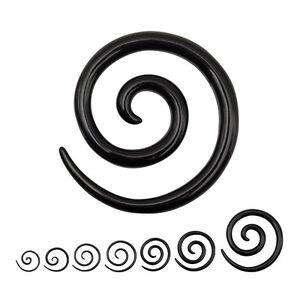 piercing carteur expander spirale noir de 1 6 mm 1 cm ebay. Black Bedroom Furniture Sets. Home Design Ideas