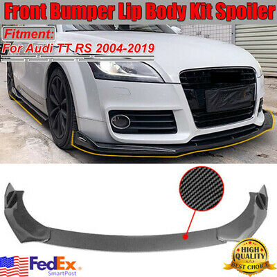 Carbon Fiber Front Bumper Lip Splitter For Audi A4 S4 R8 Q3 Q5 Q7 RS5 RS6 RS7 S3