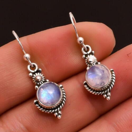 Jewellery - Women 925 Sterling Silver Moonlight Stone Drop Dangle Earrings Ear Stud Jewelry