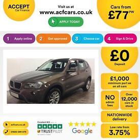 BMW X3 FROM £77 PER WEEK!