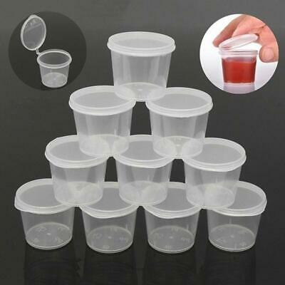 Small Storage Boxes With Lids (100Pcs Clear Plastic Sauce Boxes Ketchup Storage Containers Small Cups with)