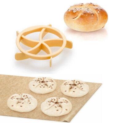 Bread Kaiser Rolls Mold Cake Bread Dough Press Cutter Stamp Kitchen Baking Tools