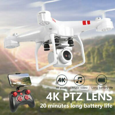 Foldable Quadcopter 2.4G WIFI FPV Drone RC Drones W/ 4K HD Camera One-key Return