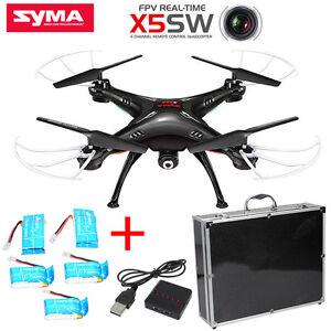 Syma-X5SW-Drone-Duadcopter-Wi-Fi-FPV-Camera-5-850mah-Piles-Chargeur