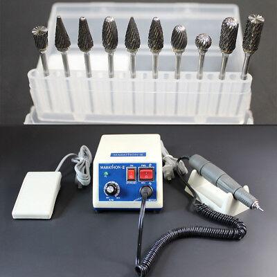 Usa Dental Lab Marathon 35k Rpm Handpiece Electric Micro Motor10drills Burs N3