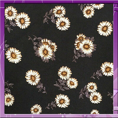 """100% RAYON CHALLIS SMALL FLOWERS / FLORAL PRINT FABRIC 58"""" WIDE SOLD BY THE YARD"""