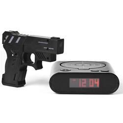 Clock Alarm Target Gun Shooting Lcd Novelty Laser Game Gadget Shoot Gift Toy Fun