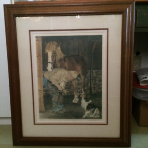 Farrier & horse art print - The Last Fitting by Kathy Hagerman