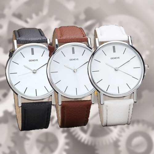 $2.39 - Luxury Brand Geneva Women dress Watches Leather Band Analog Quartz Wrist Watch